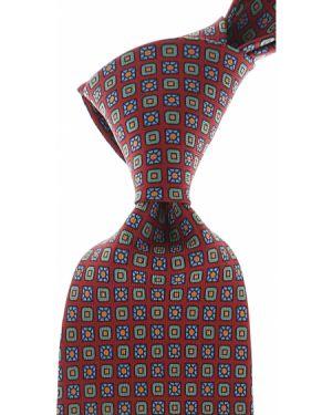 Beżowy krawat z jedwabiu Marinella