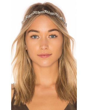 Ażurowy kapelusz srebrny miejski Jennifer Behr