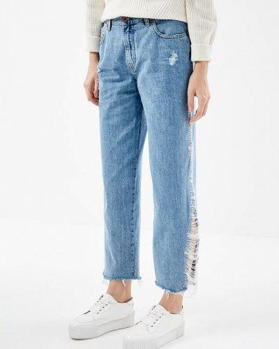 Голубые джинсы бойфренды Diesel