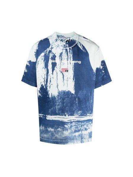 Niebieska t-shirt Alexander Wang