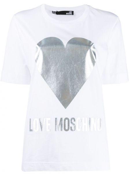 Топ свободный белый Love Moschino