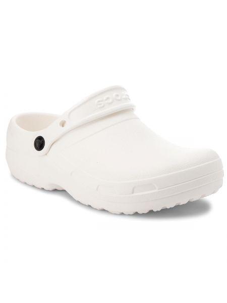 Białe chodaki na co dzień Crocs