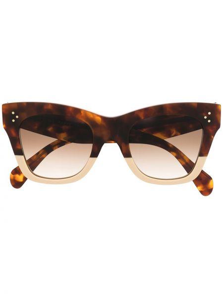 Brązowy okulary przeciwsłoneczne dla wzroku przeoczenie przezroczysty Celine Eyewear