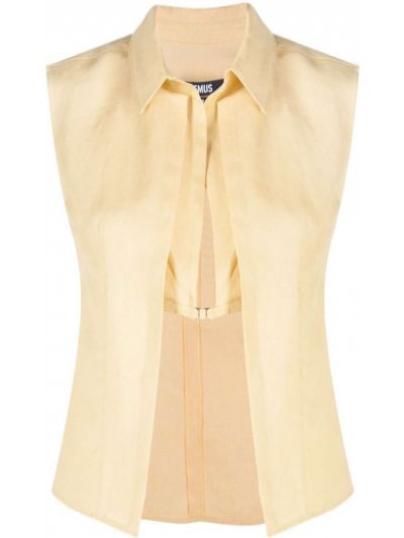 Prosto żółty bluzka bez rękawów Jacquemus