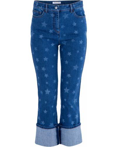 Расклешенные джинсы укороченные с карманами Valentino