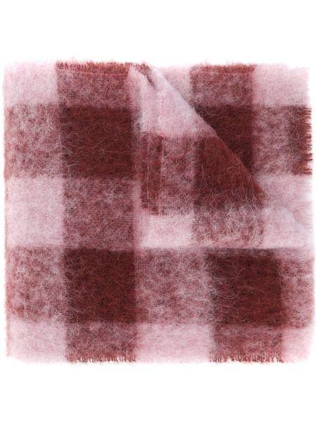 Różowy szalik z moheru przycięte Acne Studios