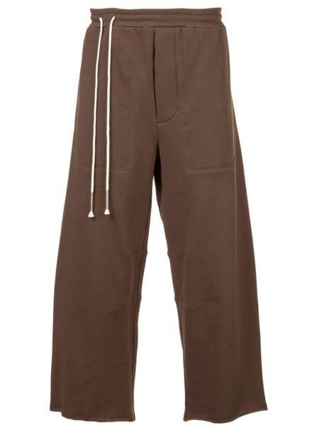 Коричневые шорты с карманами свободного кроя Siki Im