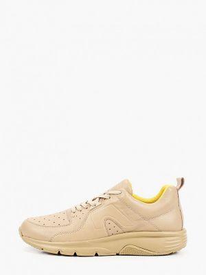 Бежевые кожаные низкие кроссовки Camper