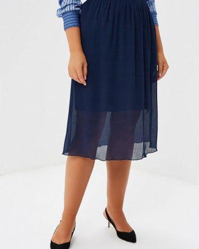 Плиссированная юбка синяя Prewoman