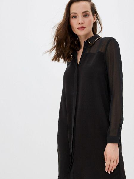 Платье платье-рубашка черное Incity
