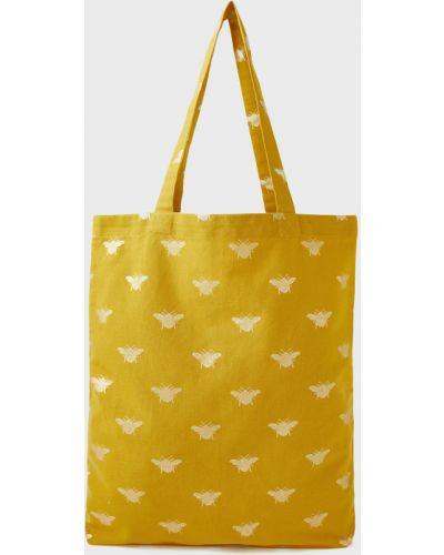 Сумка шоппер - желтая Accessorize