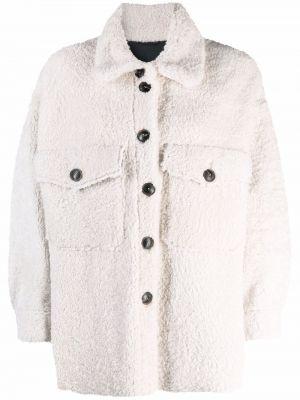 Белая куртка из овчины Simonetta Ravizza