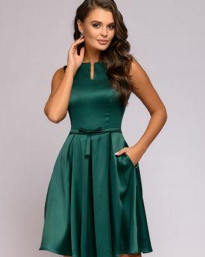 Коктейльное платье на молнии со складками 1001 Dress
