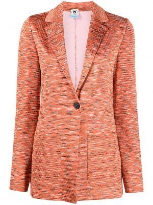 Оранжевый однобортный удлиненный пиджак с карманами M Missoni
