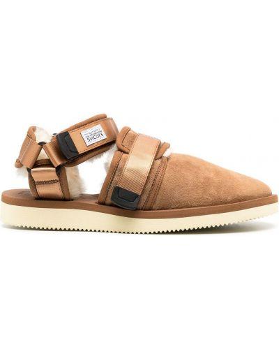 Коричневые кожаные сандалии с подкладкой Suicoke