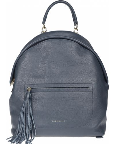 Кожаный рюкзак - синий Coccinelle