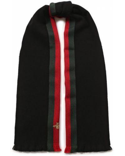 Черный шарф Gucci
