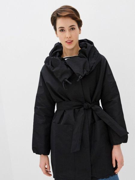 Теплая черная утепленная куртка Samos Fashion Group