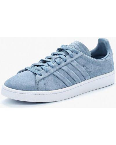 Голубые кеды замшевые Adidas Originals