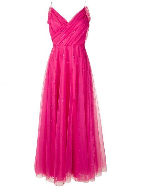 Платье макси на запах - розовое Reinaldo Lourenço