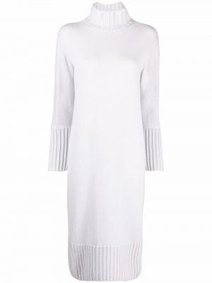 Белое шелковое платье миди Antonelli