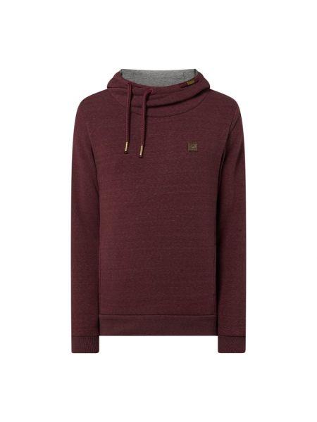 Fioletowa bluza z kapturem bawełniana Ragwear