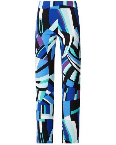 Niebieskie spodnie palazzo z wiskozy Marc Cain