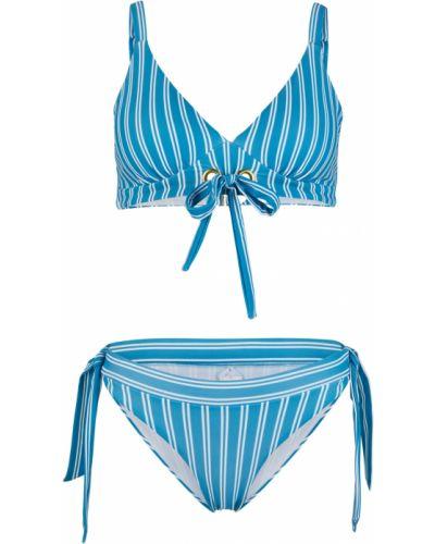 Синий купальник на шнуровке Bonprix