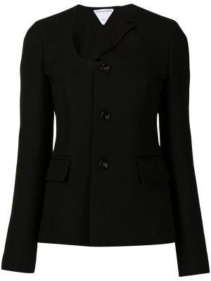 Черный пиджак на пуговицах Bottega Veneta