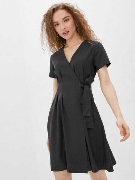 Платье с запахом черное Savage