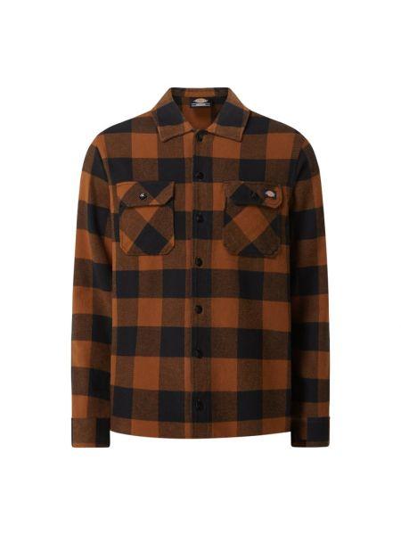 Flanelowa koszula w kratę - brązowa Dickies