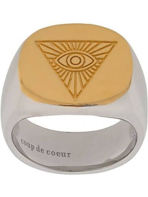 Золотистое кольцо золотое позолоченное Coup De Coeur