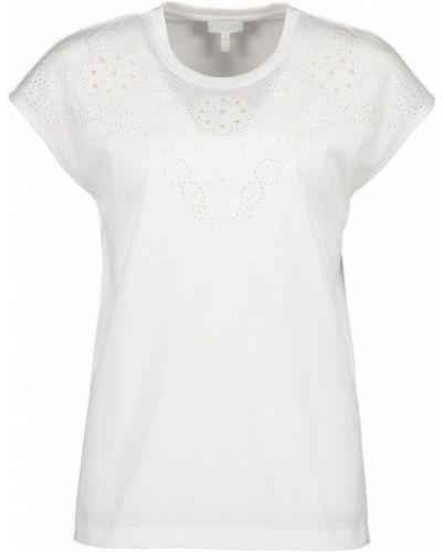 T-shirt z haftem Escada Sport