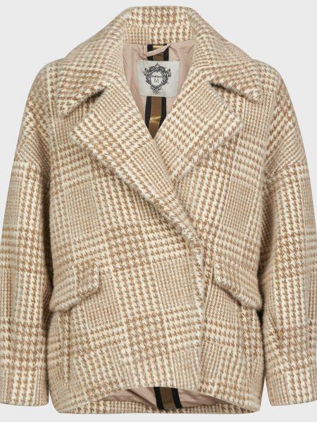 Бежевое пальто на кнопках Diego M