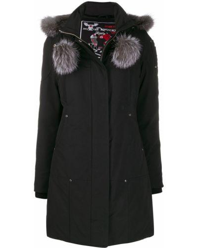 Черное длинное пальто Moose Knuckles
