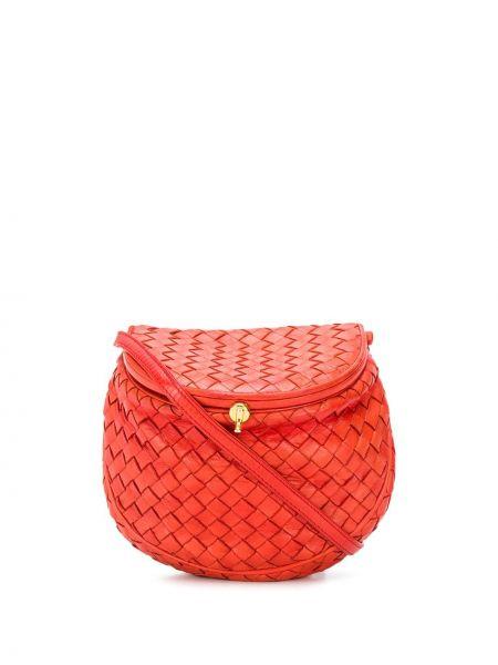 Красное кожаное поло с карманами Bottega Veneta Pre-owned