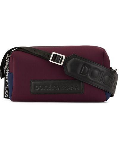 Torba na ramieniu sport fioletowy Dolce And Gabbana