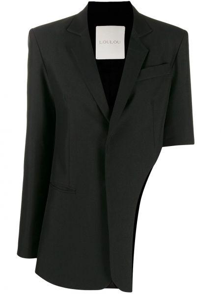 Черный пиджак на пуговицах с лацканами Loulou