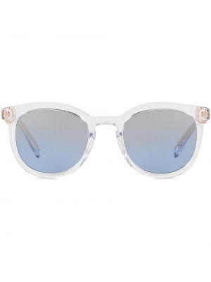 Белые солнцезащитные очки круглые прозрачные Dolce & Gabbana Eyewear