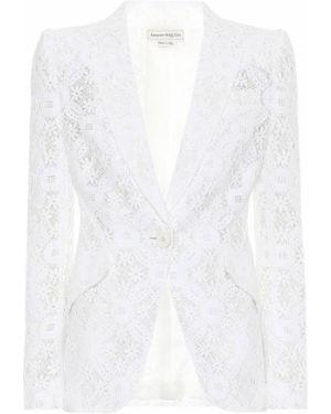 Пиджак белый светлый Alexander Mcqueen