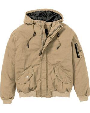 Куртка с капюшоном на резинке с манжетами Bonprix