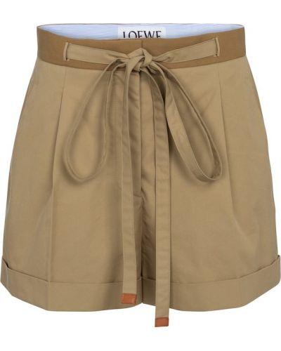 Повседневные теплые кожаные шорты Loewe