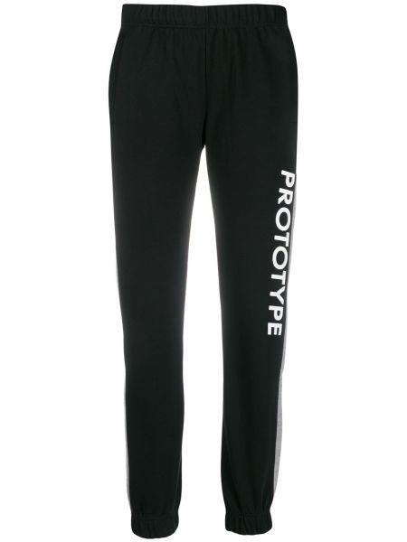 Спортивные брюки с нашивками с поясом с манжетами Omc