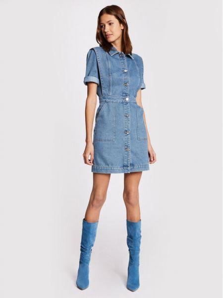 Niebieska sukienka jeansowa Morgan