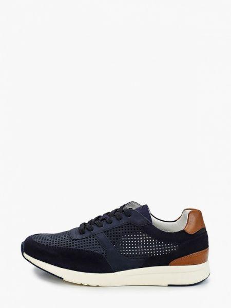 Кожаные синие кроссовки Henderson
