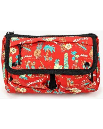 Красная поясная сумка Topman