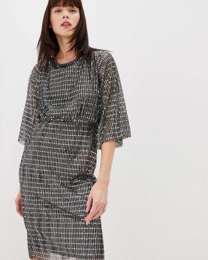 Серебряное вечернее платье Vila