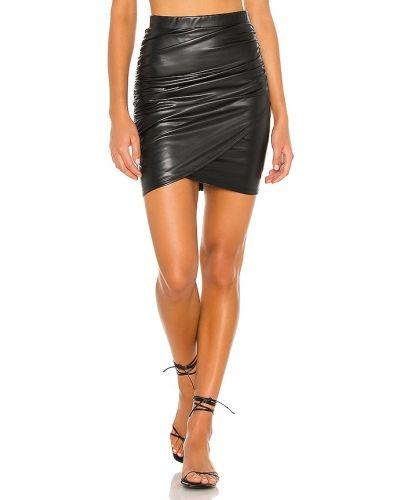 Кожаная юбка - черная La Made