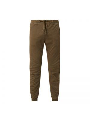 Zielone spodnie bawełniane zapinane na guziki Urban Classics
