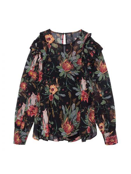 Блузка с длинным рукавом с цветочным принтом с вырезом Pepe Jeans